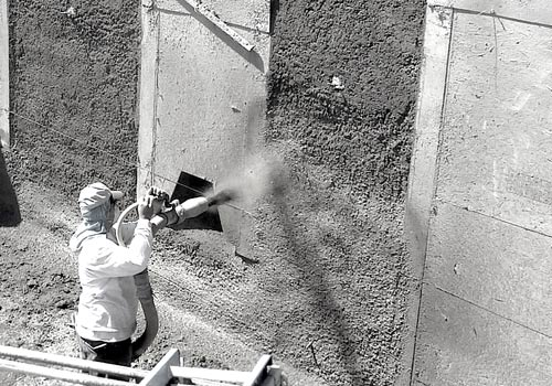 Spray On Plaster For Walls : Caliper architecture